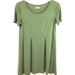 Silence+Noise MiniDress Tunic Green Olive Size S